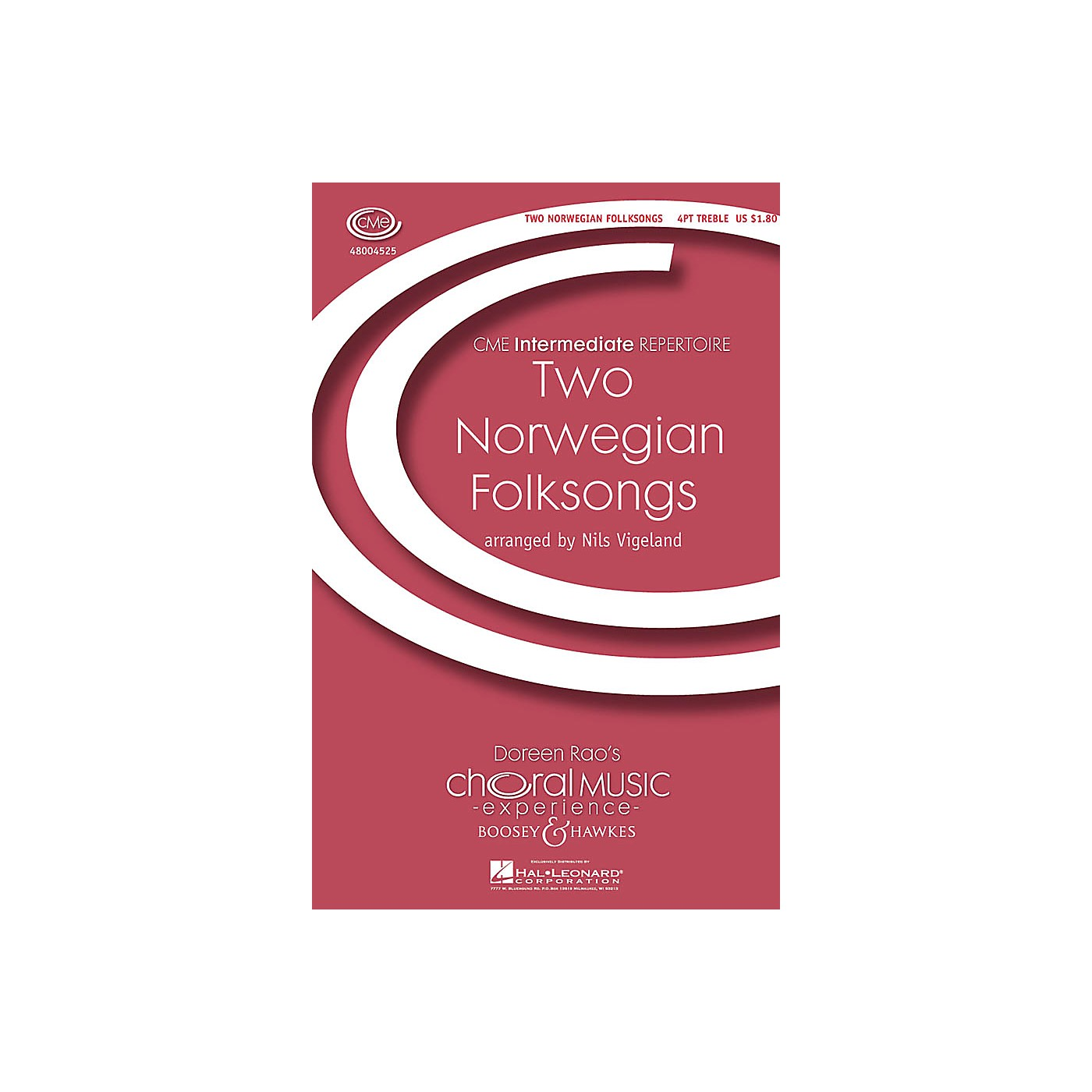 Boosey and Hawkes Two Norwegian Folksongs (CME Intermediate) 4 Part Treble A Cappella composed by Nils Vigeland thumbnail