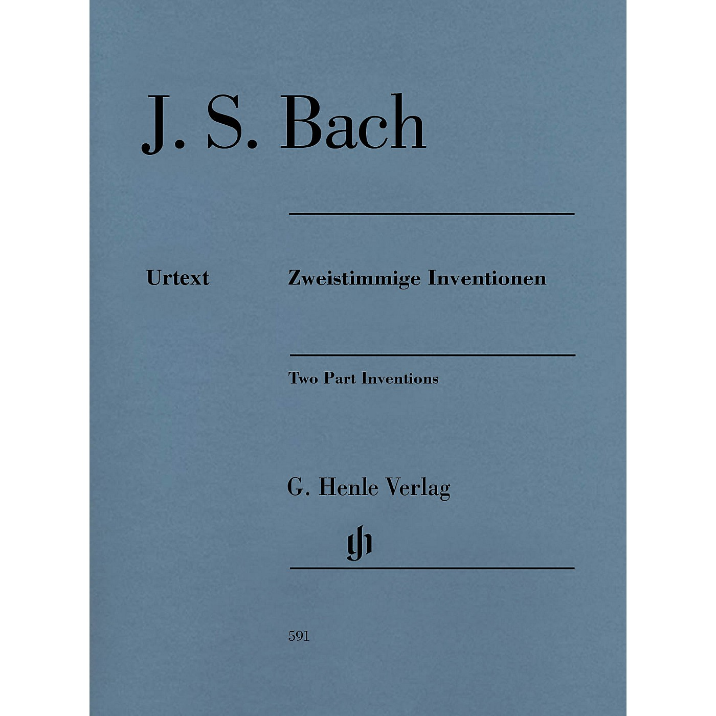 G. Henle Verlag Two Part Inventions Revised Edition - Paperbound with Fingerings Henle Music Folios Series Softcover thumbnail