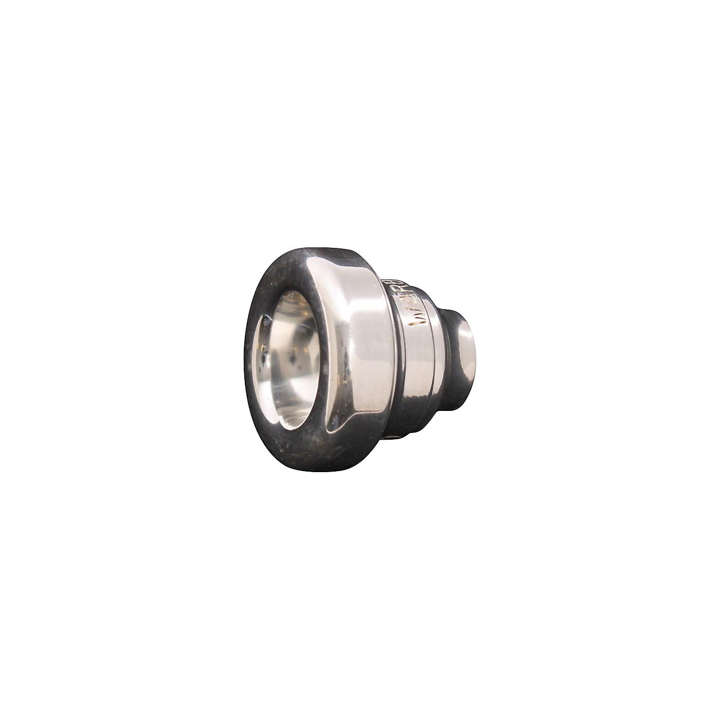 Warburton Two-Piece Tenor Trombone Mouthpiece System in Silver thumbnail