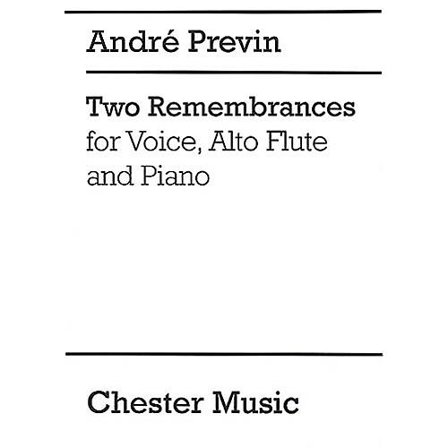 Chester Music Two Remembrances Music Sales America Series Composed by Andre Previn thumbnail