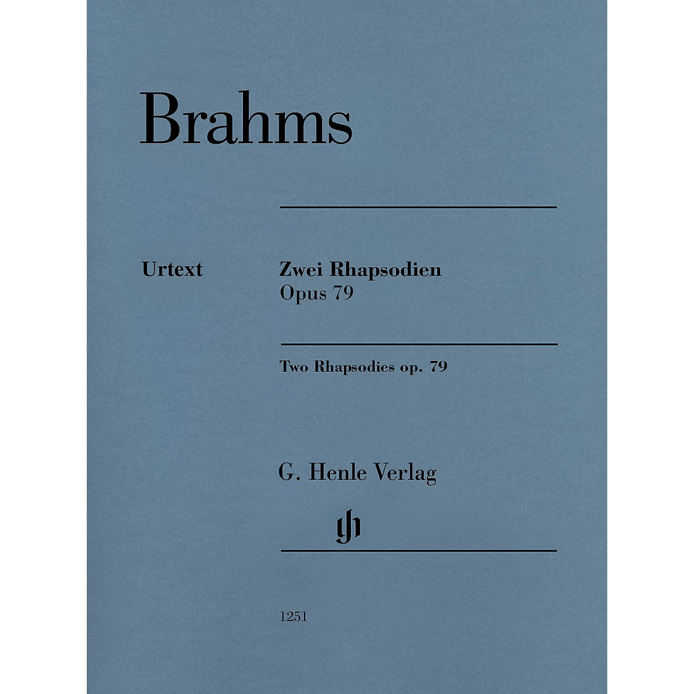G. Henle Verlag Two Rhapsodies Op. 79 Revised Henle Music Folios Softcover by Johannes Brahms Edited by Katrin Eich thumbnail