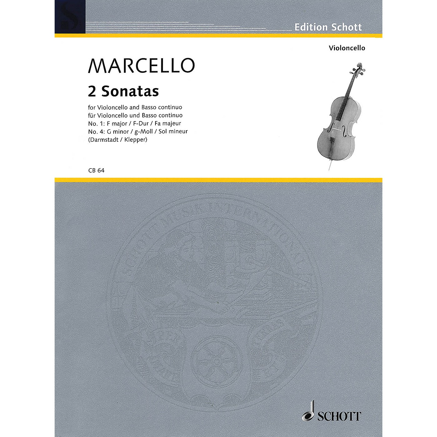 Schott Two Sonatas: No. 1 in F Major & No. 4 in G Minor (Cello and Basso Continuo) String Series thumbnail