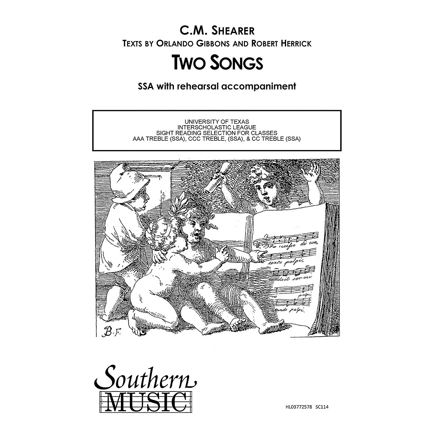 Southern Two Songs SSA Composed by C.M. Shearer thumbnail