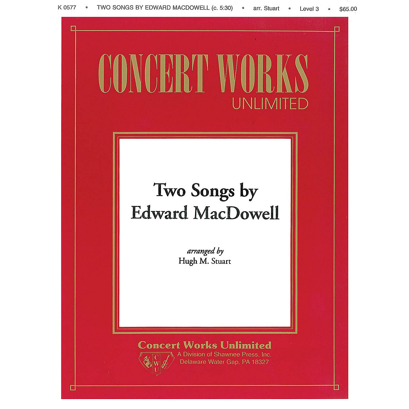 Hal Leonard Two Songs by Edward MacDowell Concert Band Level 3 Arranged by Hugh M. Stuart thumbnail
