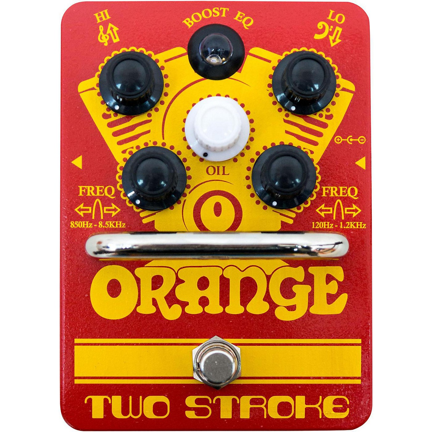 Orange Amplifiers Two-Stroke Boost EQ Guitar Effects Pedal thumbnail