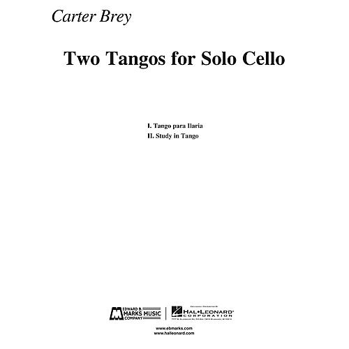 Edward B. Marks Music Company Two Tangos for Solo Cello E.B. Marks Series Composed by Carter Brey thumbnail