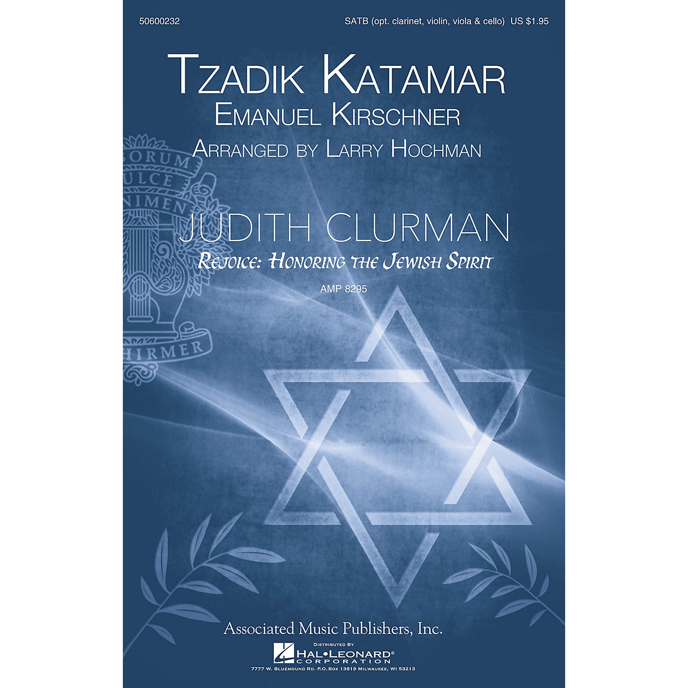 G. Schirmer Tzadik Katamar (Judith Clurman Choral Series) SATB arranged by Larry Hochman thumbnail
