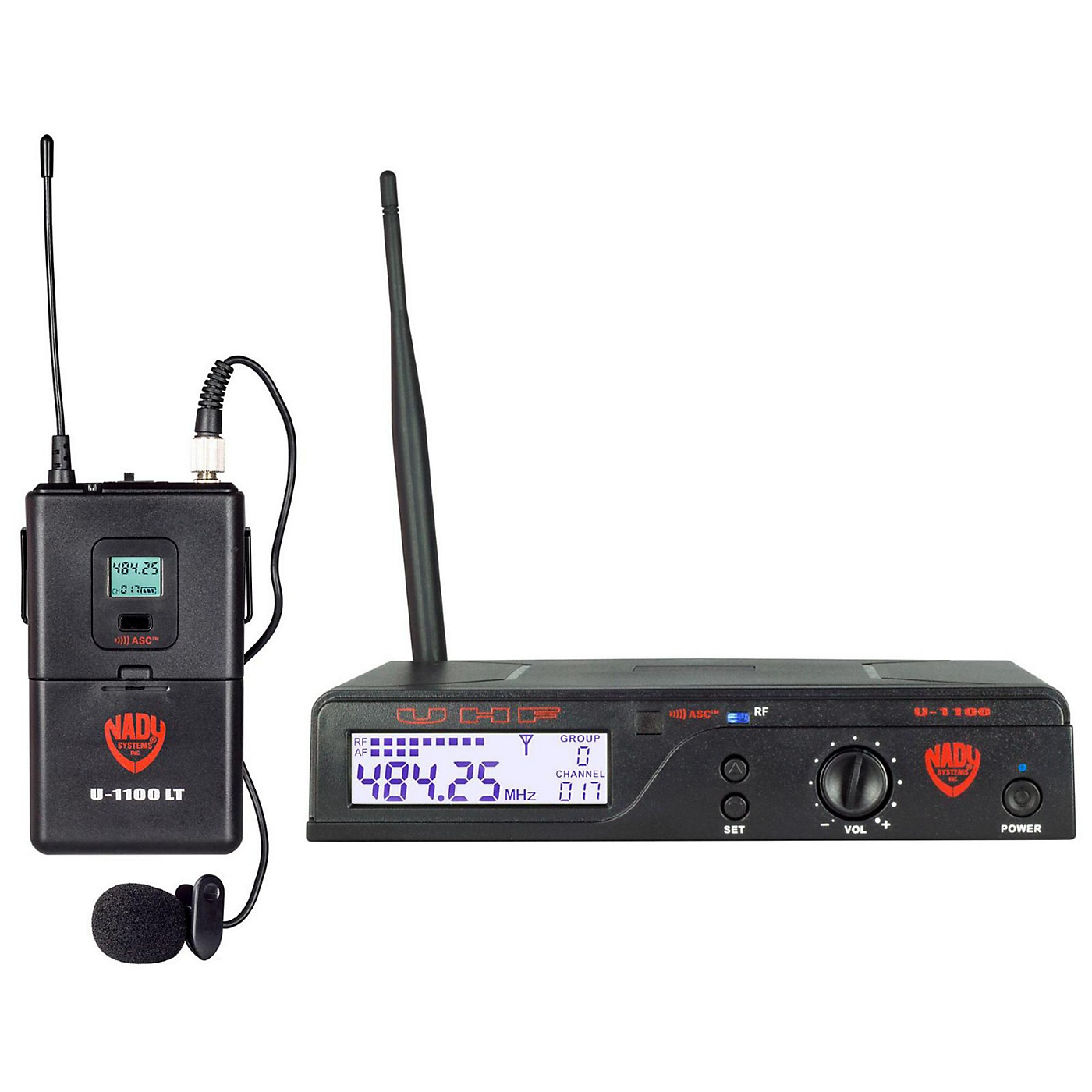 Nady U-1100 LT - 100 Channel UHF Wireless System with Omnidirectional Lavalier/Lapel Microphone thumbnail
