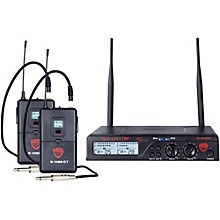 Nady U-2100 GT - Dual Channel UHF Wireless Guitar/Instrument System