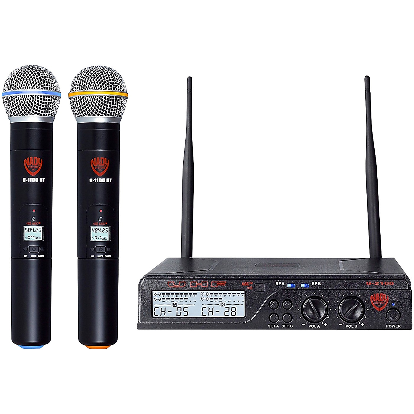 Nady U-2100 HT - Dual 100 Channel UHF Handheld Wireless Microphone System thumbnail