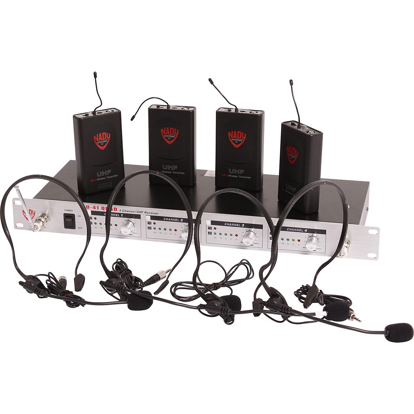 Nady U-41 Quad HM3 Headset Wireless System (14/16/10/12) thumbnail