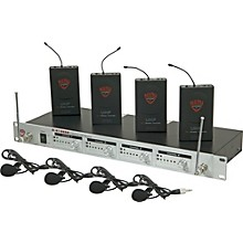 Nady U-41 Quad Omni Lav Wireless System (14/16/10/12)