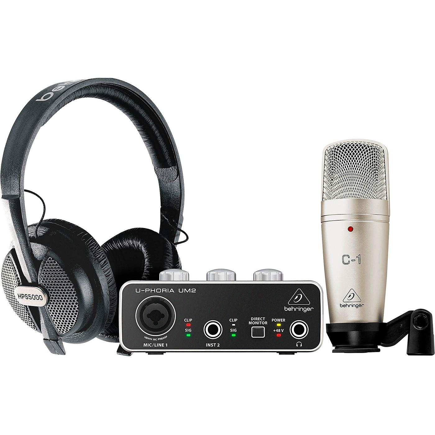 Behringer U-PHORIA STUDIO Complete Recording/Podcasting Bundle thumbnail