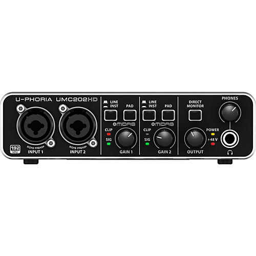Behringer U-PHORIA UMC202HD Audiophile 2x2, 24-Bit/192 kHz USB Audio Interface thumbnail