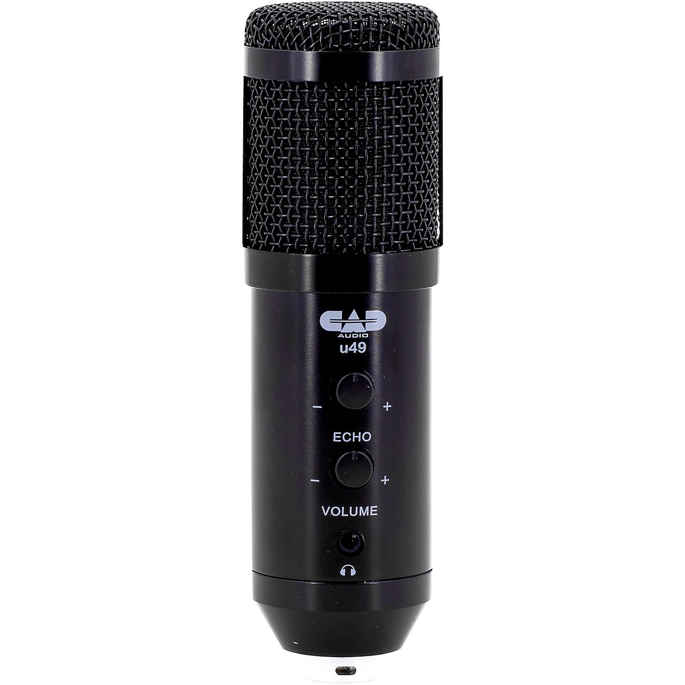 CAD U49 USB Side Address Studio Microphone with Headphone Monitor and Echo Effects thumbnail