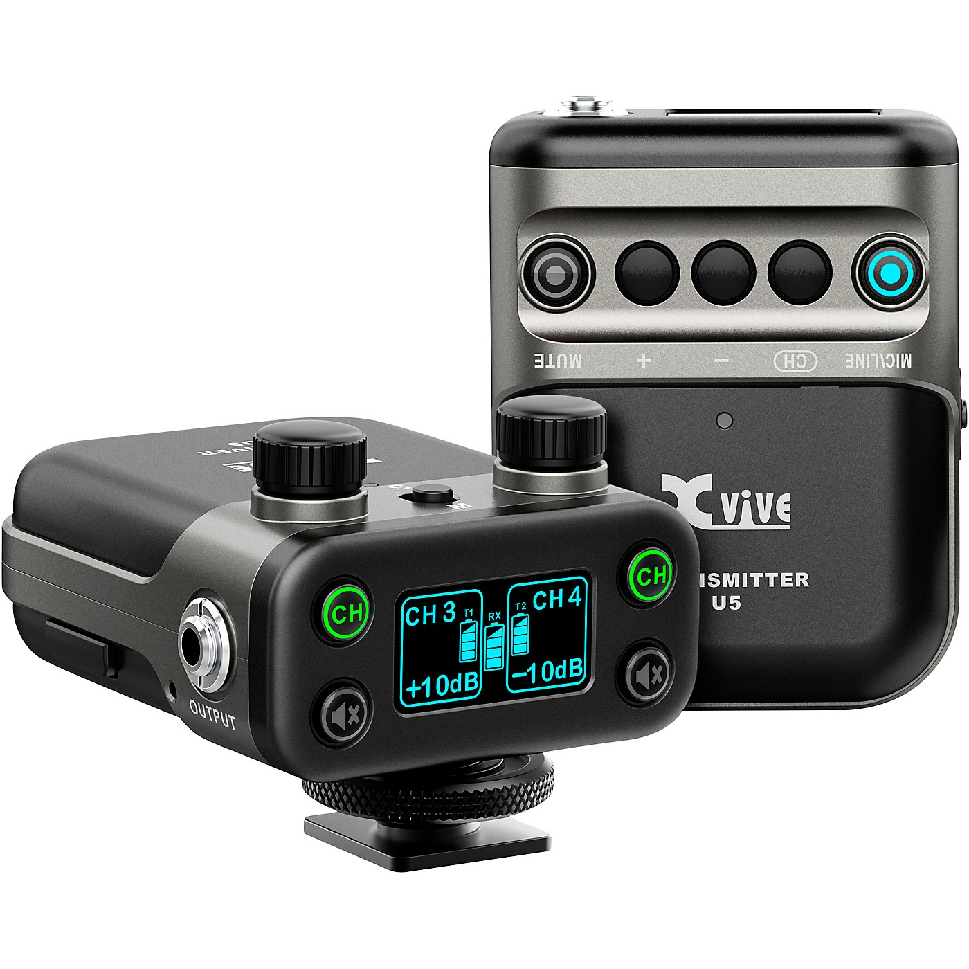 XVive U5 Dual-Channel Wireless System for Lavalier Microphone and Audio Devices thumbnail