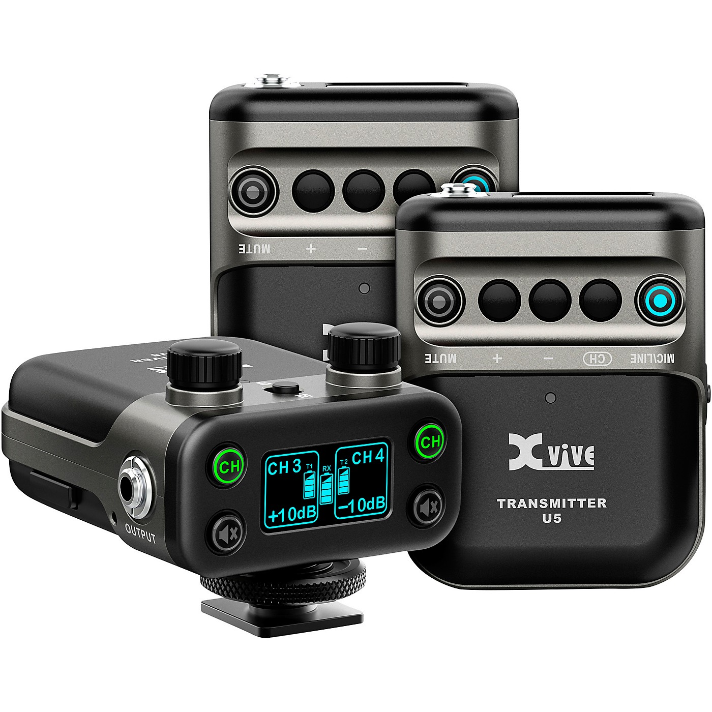 XVive U5T2 Dual-Channel Wireless System for Lavalier Microphone and Audio Devices thumbnail