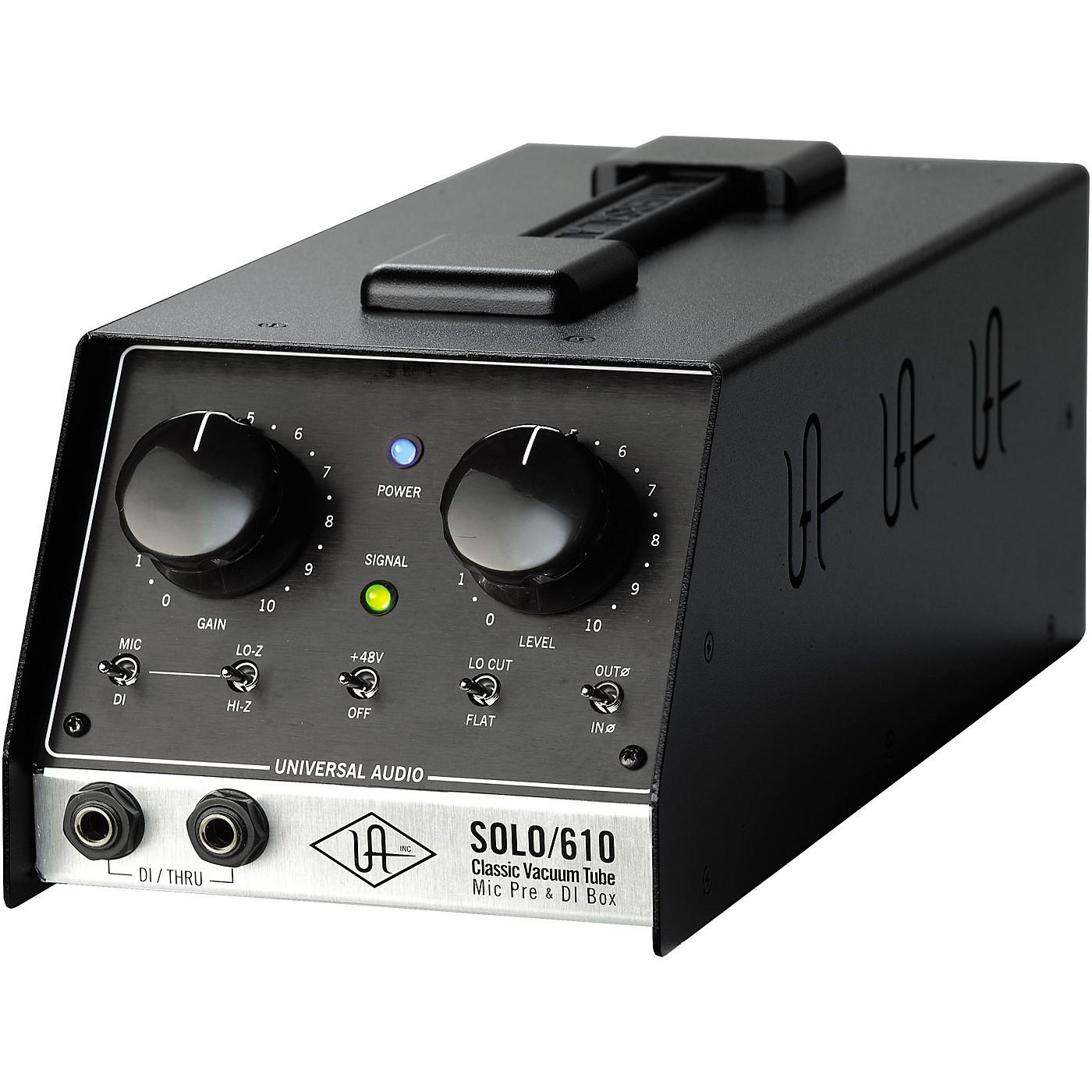 Universal Audio UA-S610 SOLO/610 Classic Vacuum Tube Microphone Preamp and DI Box thumbnail