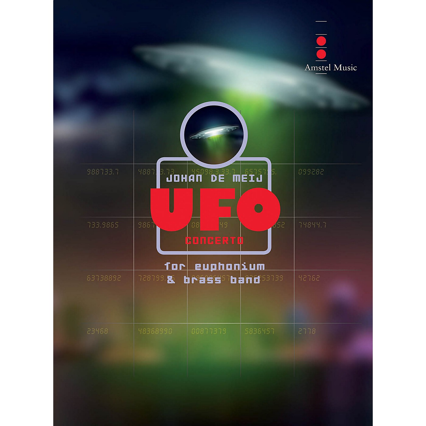 Amstel Music UFO Concerto (for Euphonium and Brass Band) (Score Only) Concert Band Level 5 Composed by Johan de Meij thumbnail