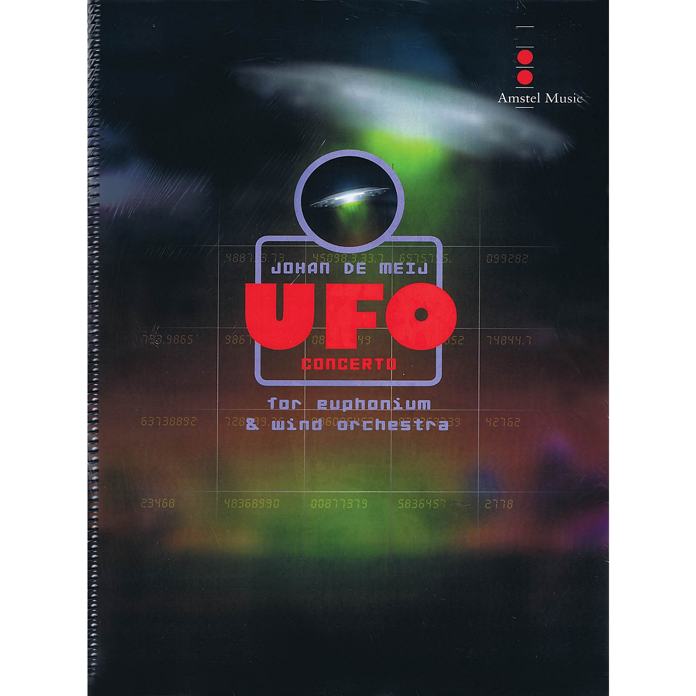 Amstel Music UFO Concerto (for Euphonium and Wind Orchestra) (Score Only) Concert Band Level 5 by Johan de Meij thumbnail