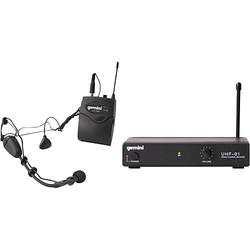Gemini UHF-01HL Wireless Headset/Lavalier Combo System thumbnail