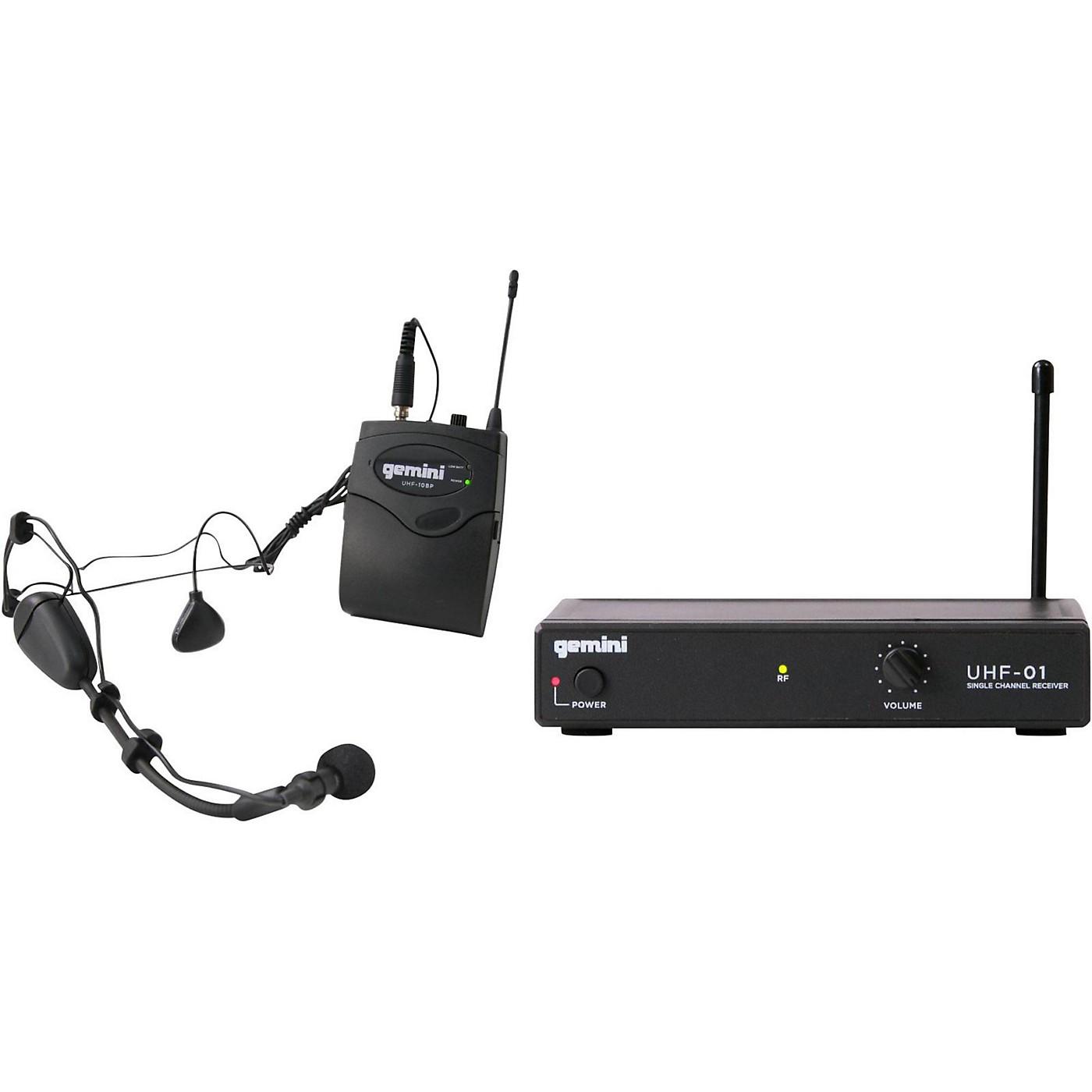 Gemini UHF-01HL Wireless Headset/Lavalier Combo System thumbnail