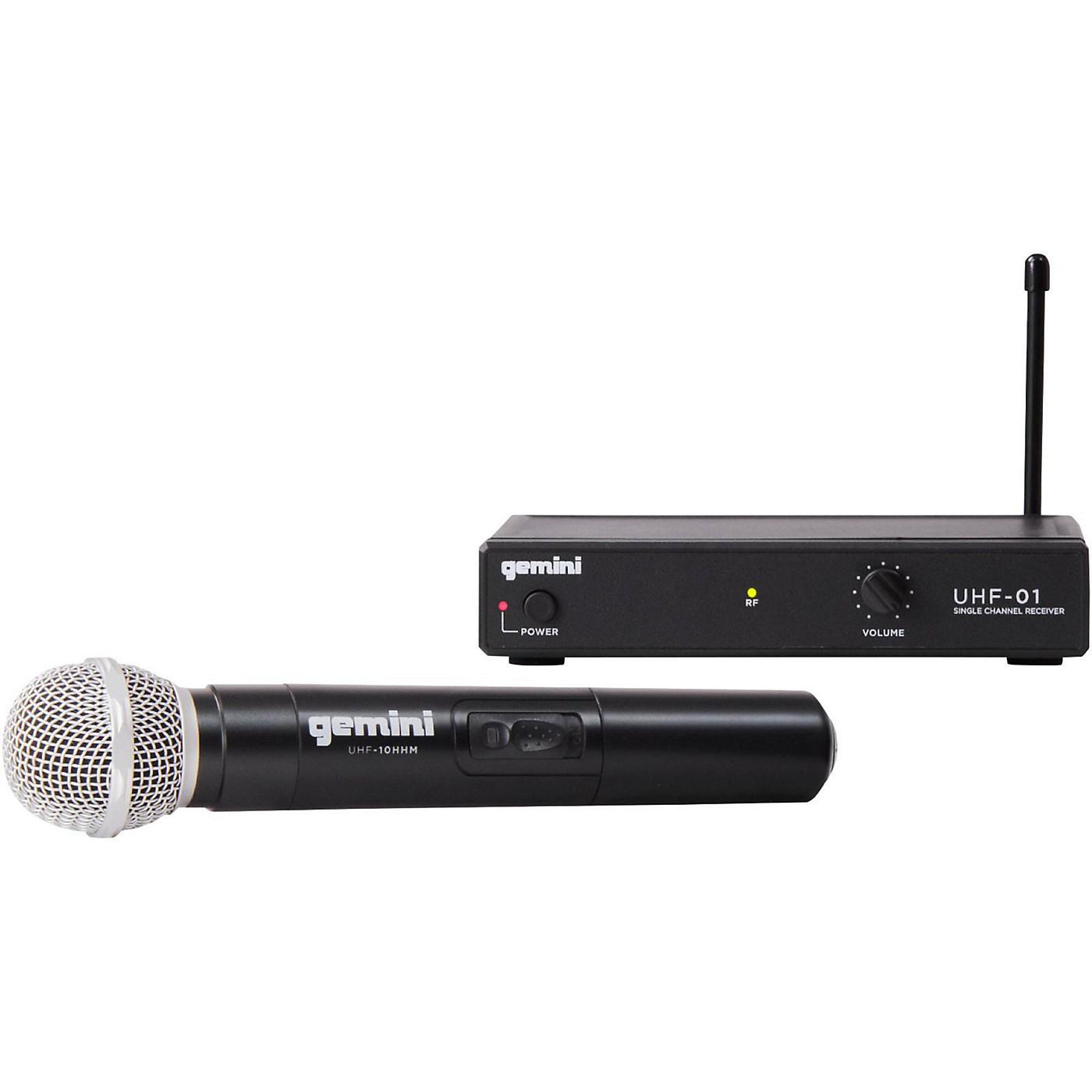 Gemini UHF-01M Wireless Handheld Microphone System thumbnail