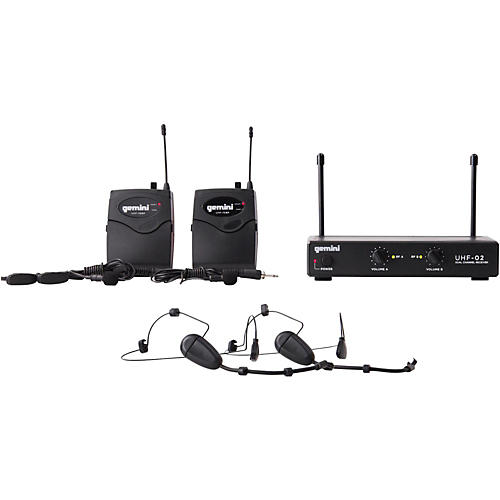 Gemini UHF-02HL 2-Channel Wireless Headset/Lavalier Combo System thumbnail
