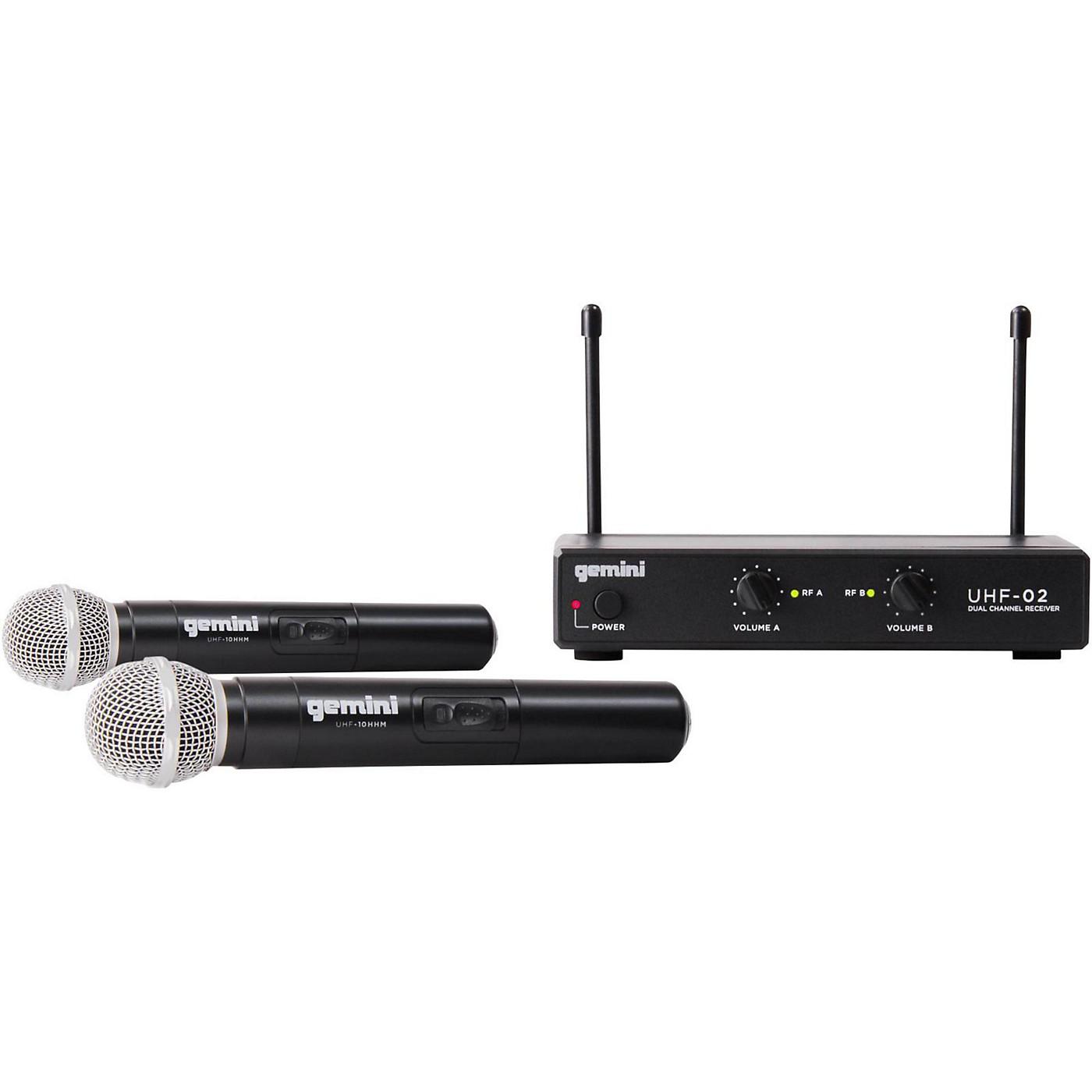 Gemini UHF-02M 2-Channel Wireless Handheld Microphone System thumbnail