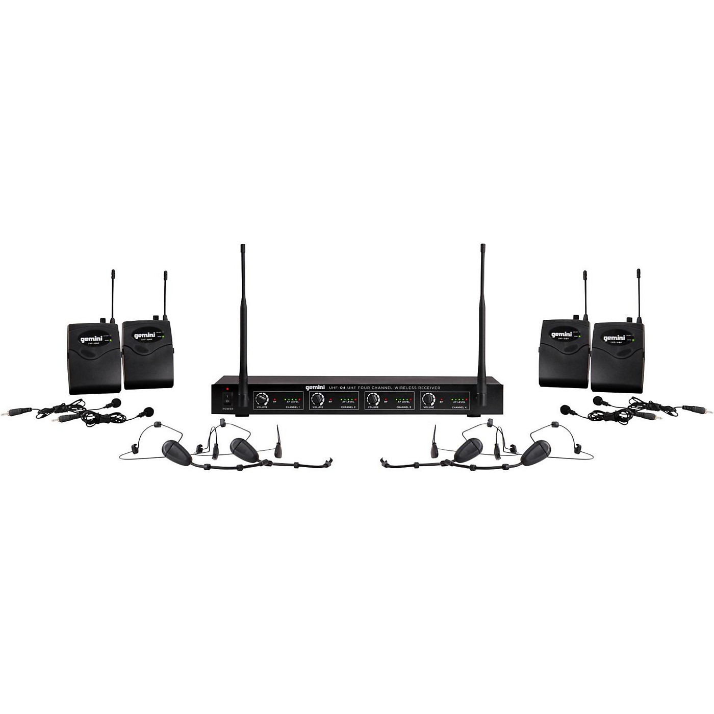 Gemini UHF-04HL 4-Channel Wireless Headset/Lavalier Combo System thumbnail
