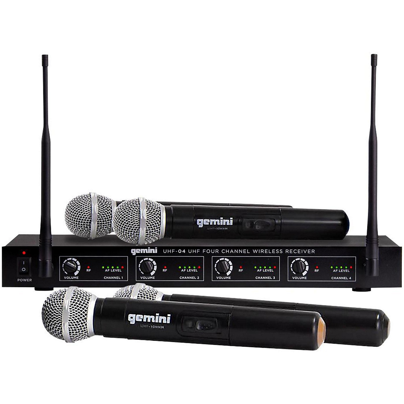 Gemini UHF-04M 4-Channel Wireless Handheld Microphone System thumbnail