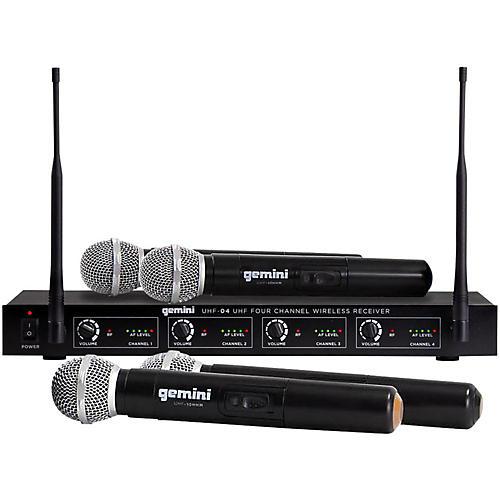 Gemini UHF-04M 4-Channel Wireless Handheld Microphone System thumbnail