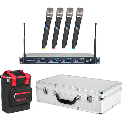 VocoPro UHF-5800 Plus 4-Mic Wireless System with Mic Bag thumbnail