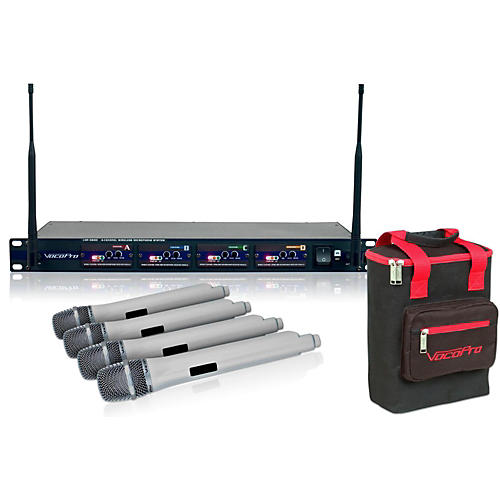VocoPro UHF-5800 Plus 4-Microphone Wireless System White thumbnail
