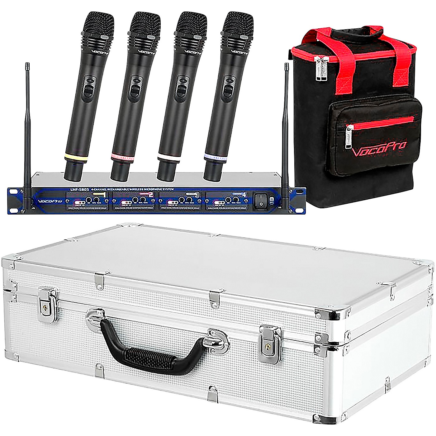 VocoPro UHF-5805 Plus Rechargeable Wireless System with Mic Bag thumbnail