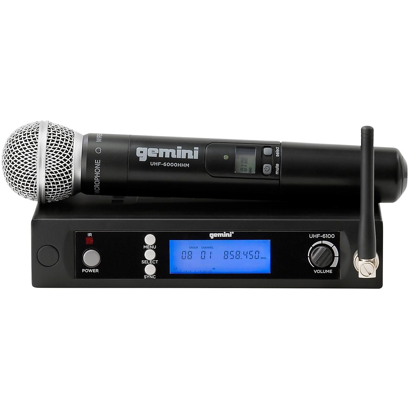 Gemini UHF-6100M Single Handheld Wireless System thumbnail