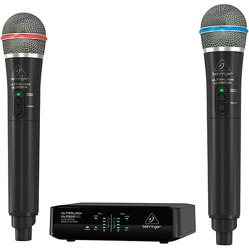 Behringer ULM302MIC High-Performance 2.4 GHz Digital Wireless System with 2 Handheld Microphones thumbnail