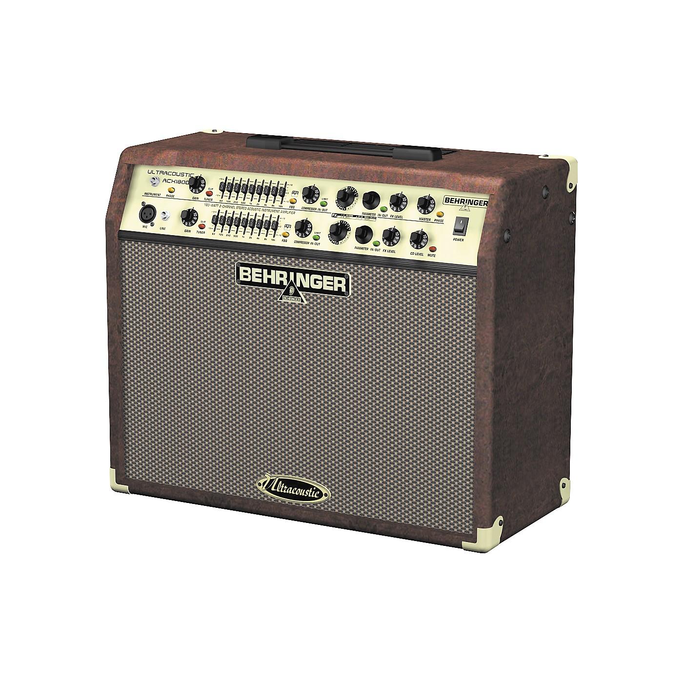 Behringer ULTRACOUSTIC ACX1800 Acoustic Guitar Amplifier thumbnail
