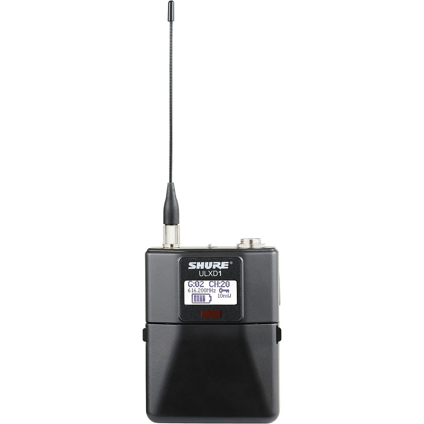 Shure ULXD1 Digital Wireless Bodypack, Band G50 thumbnail