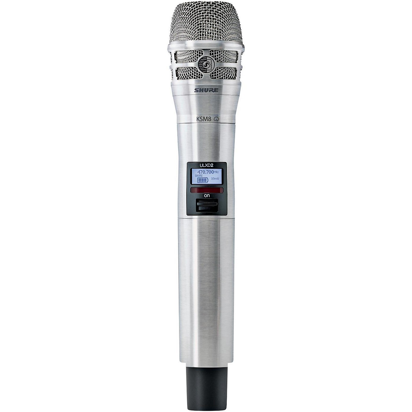 Shure ULXD2/K8N Handheld Transmitter with KSM8 Capsule in Nickel thumbnail