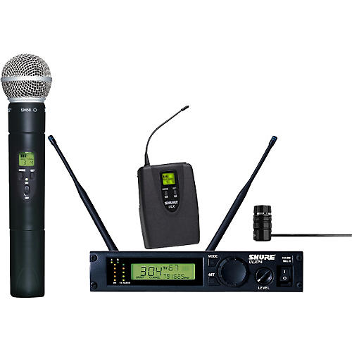 Shure ULXP124/85 Combo Handheld/Lavalier Wireless Microphone System-thumbnail