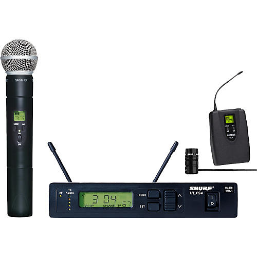 Shure ULXS124/85 Wireless Handheld/Lavalier Combo System thumbnail