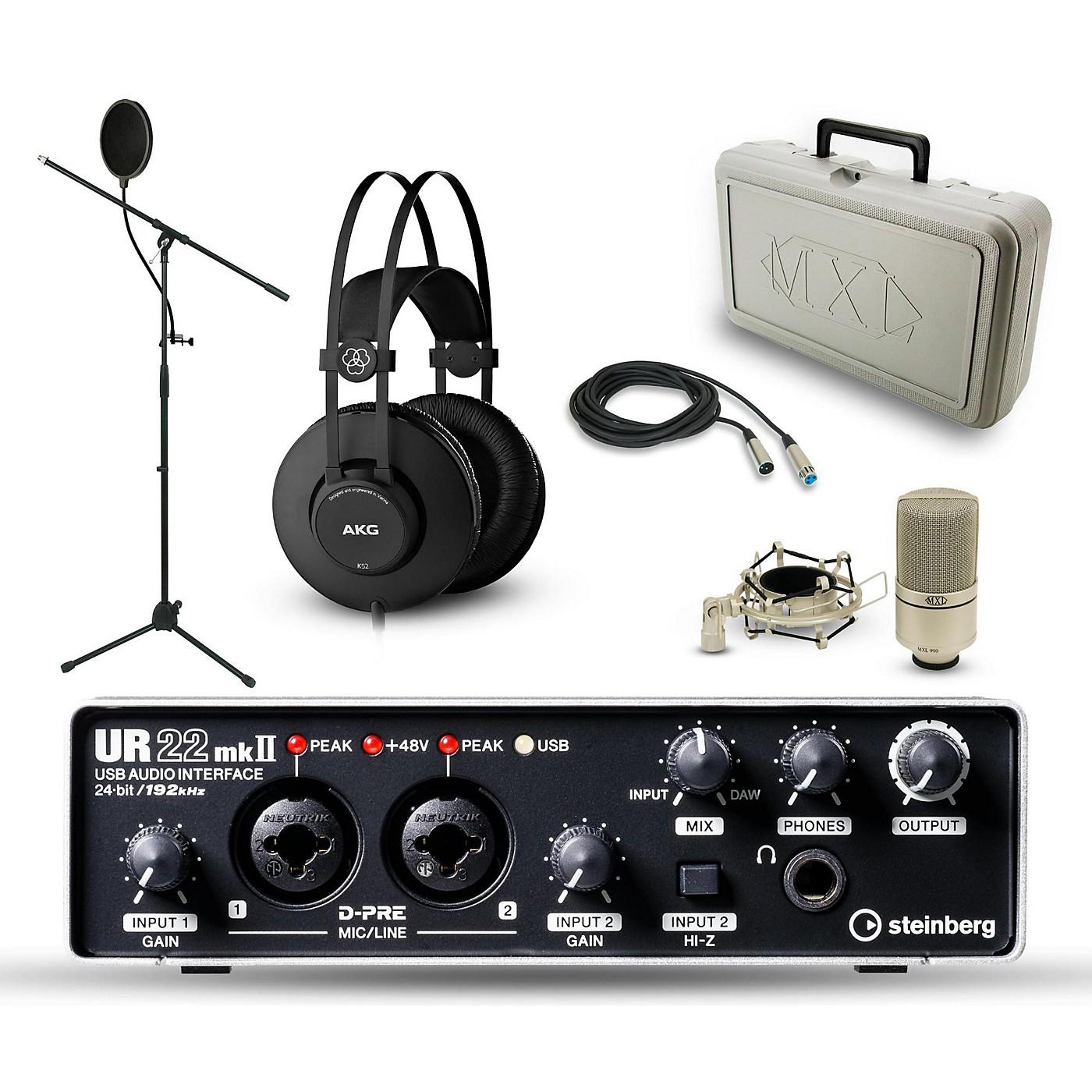 Steinberg UR-22mkII, MXL 990 and AKG K52 Package thumbnail