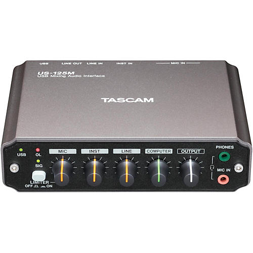 Tascam US-125M USB Mixing Audio Interface thumbnail