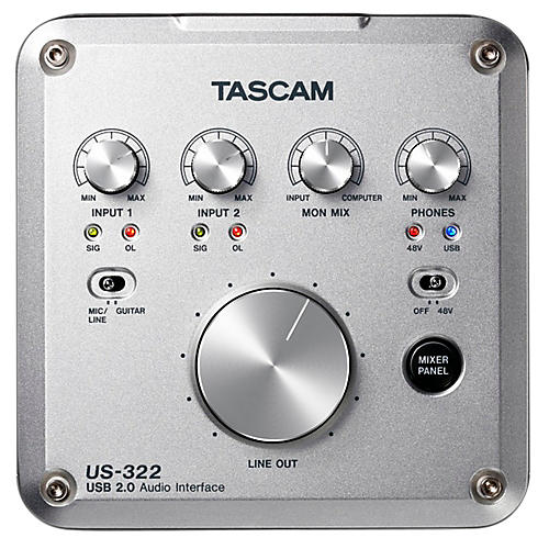 Tascam US-322 2x2 USB Audio Interface thumbnail
