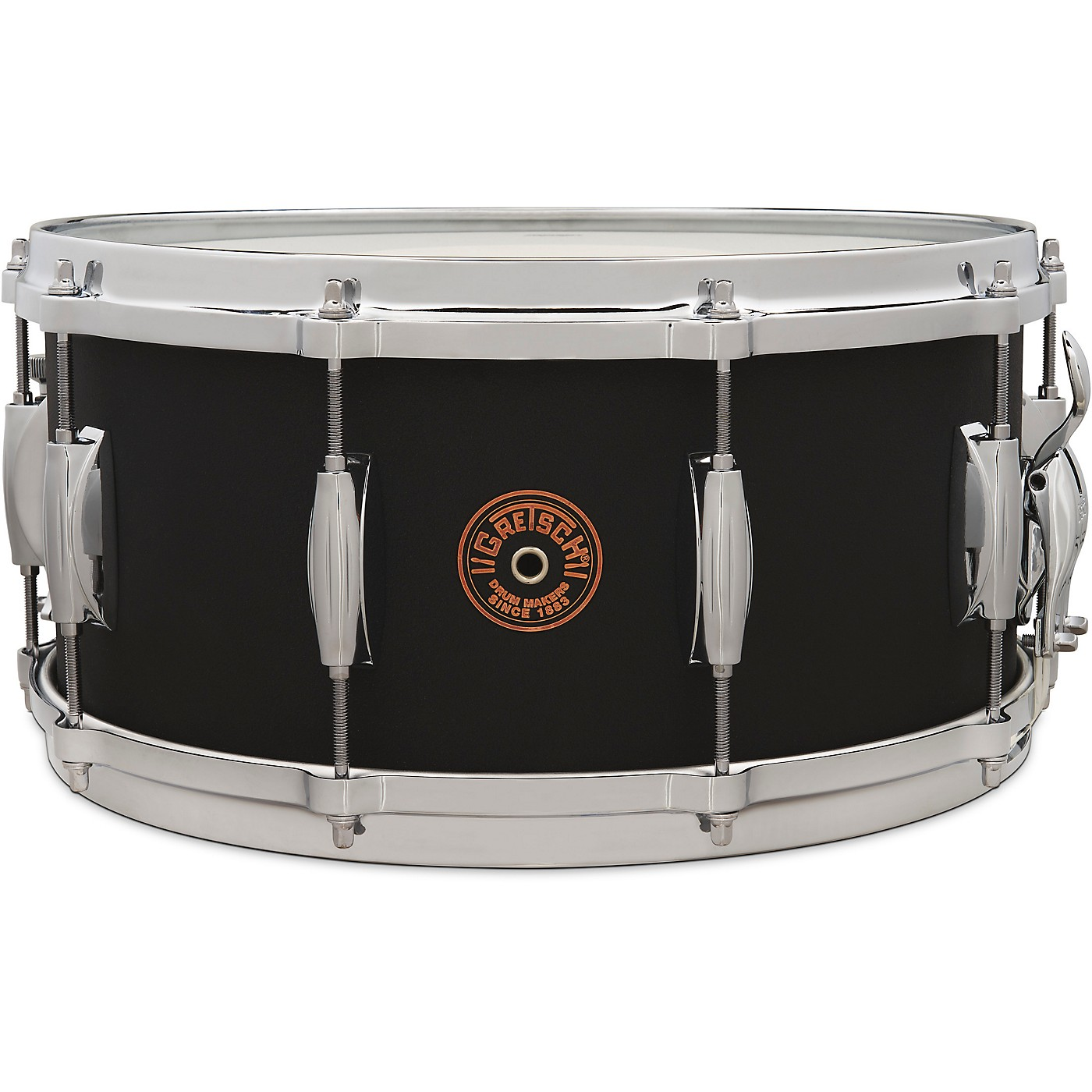 Gretsch Drums USA Custom Black Copper Snare Drum thumbnail