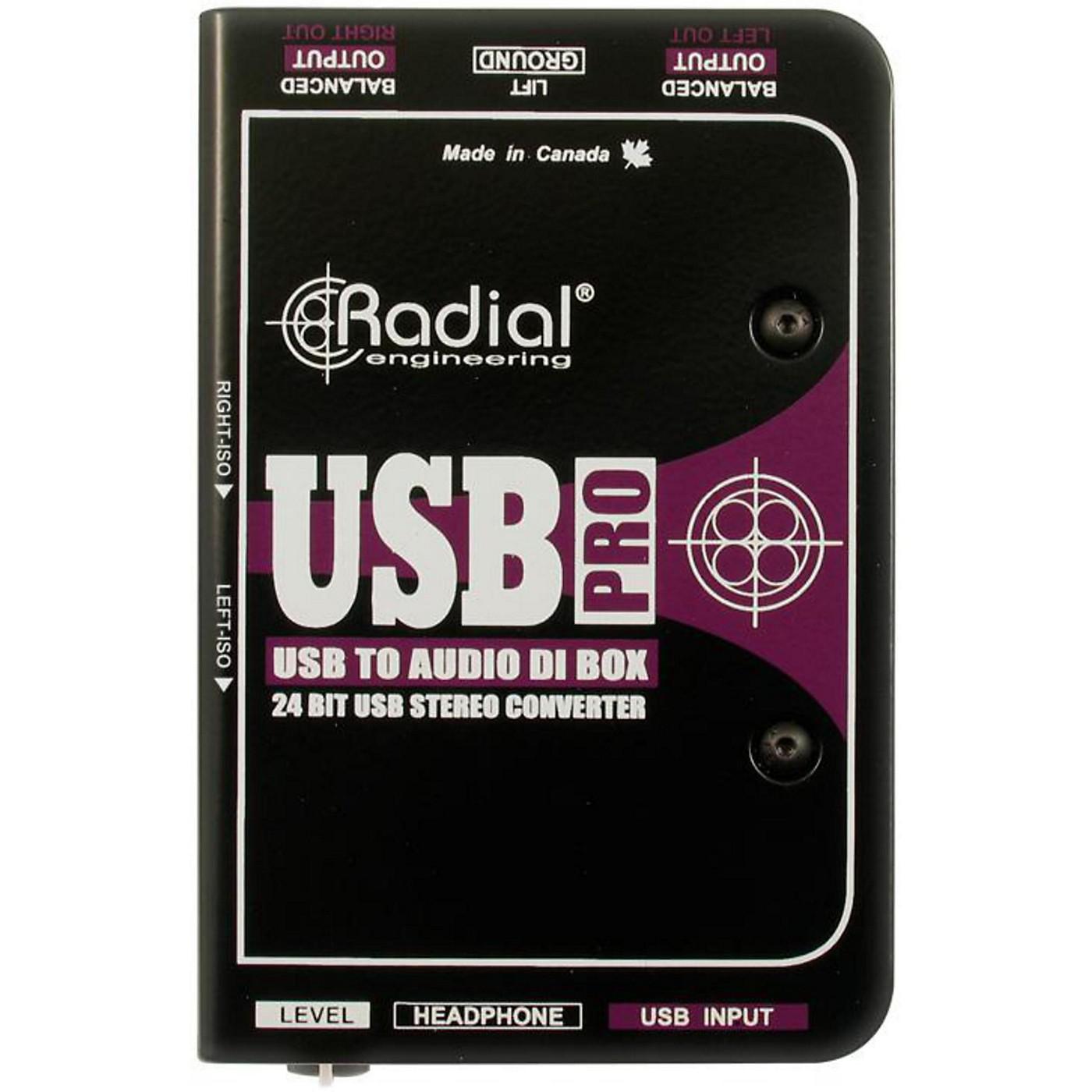 Radial Engineering USB-Pro Stereo USB Laptop DI thumbnail