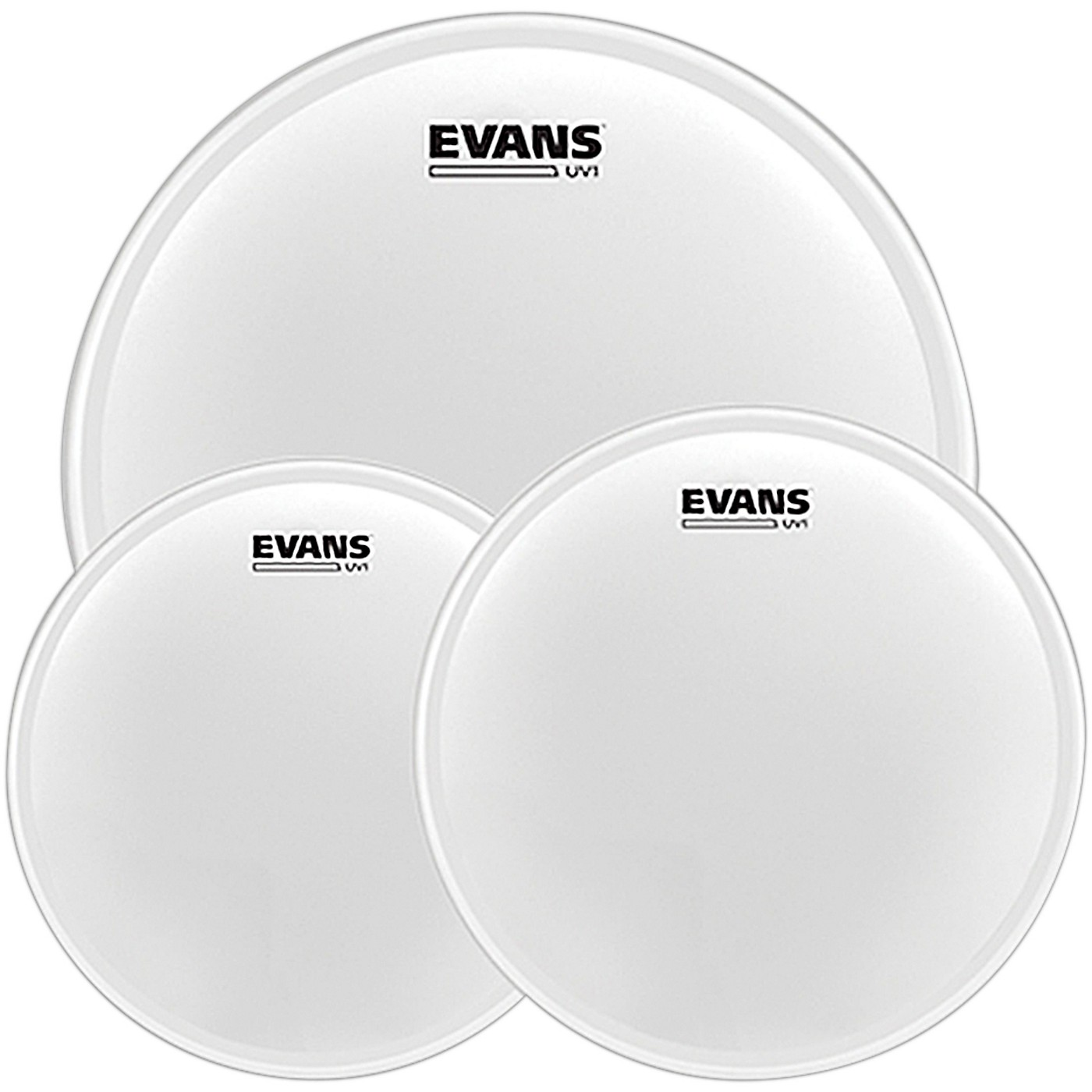 Evans UV1 Tom Pack with Free 14 in. UV1 Snare Head thumbnail