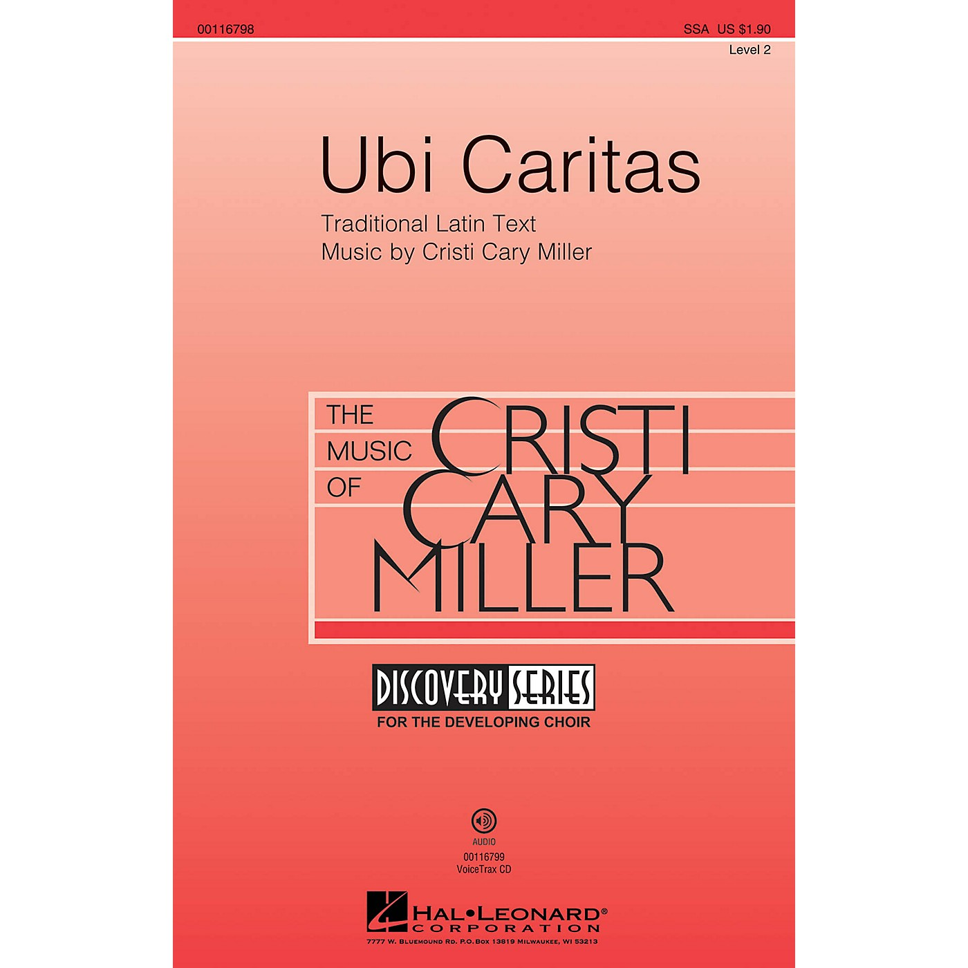 Hal Leonard Ubi Caritas (Discovery Level 2) SSA composed by Cristi Cary Miller thumbnail