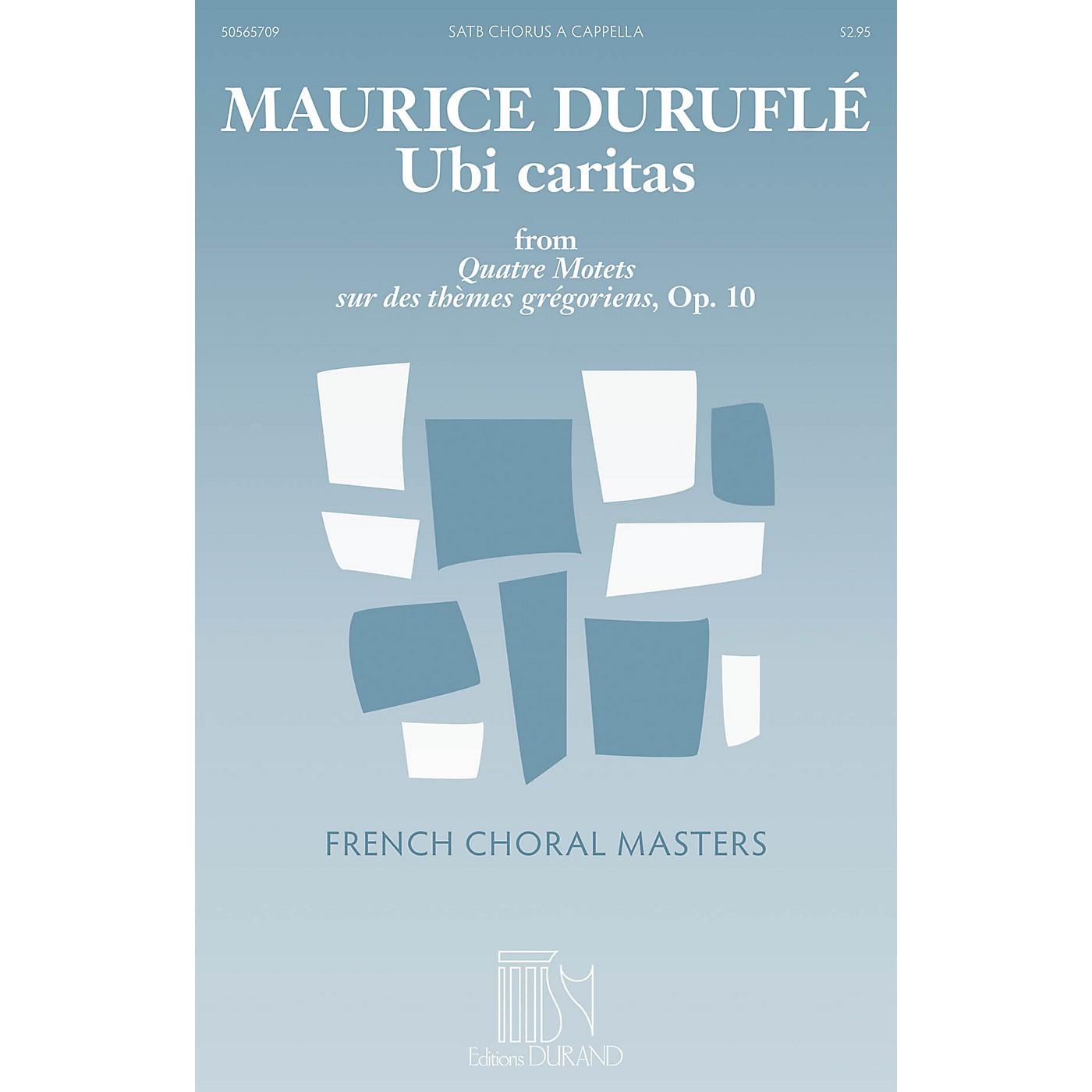 Durand Ubi caritas (from Quatre Motets sur des themes gregoriens, Op. 10) SATTBB A Cappella by Maurice Durufle thumbnail